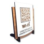 Placa De Sinalização | Uso de Wi-Fi - QR
