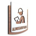 Placa De Sinalização | Almoxarifado - MDF 15x13cm