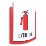 Placa De Sinalização   Extintor - MDF 15x13cm