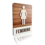 Placa De Sinalização   Feminino - MDF 21x30cm