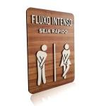 Placa De Sinalização   Fluxo Intenso - MDF 21x30cm