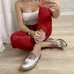 Oxford Violanta Joinville Nude Branco Prata