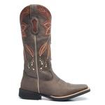 Bota Texana Feminina - Vecchio Café / Whiskey - Roper - Bico Quadrado - Cano Longo - Solado Freedom Flex - Vimar Boots - 13081-A-VR