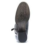 Bota Casual Feminina - Napa Comfort Preto - Bico Redondo - Over Knee - Solado Colorplac - Pele Nativa - 43002-A-PN