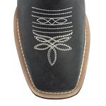 Bota Texana Feminina - Fóssil Preto - Roper - Bico Quadrado - Cano Longo - Solado VTS - Bulls Horse - 53001-C-BU