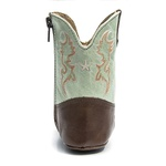 Bota Texana Baby - Firenze Café / Napa Polo Light Green - Comfort - Bico Redondo - Cano Longo - West Country - 27001-D-WC