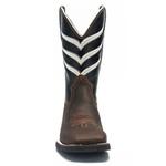 Bota Texana Masculina - Crazy Horse Café / Preto - Roper - Bico Quadrado - Cano Médio - Solado VRX - PalFlex - 52012-B-PF