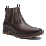 Botina Masculina - Lezar Café - Roper - Bico Quadrado - Solado Strong Shock - Vimar Boots - 82081-G-VR