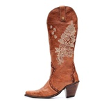 Bota Western Feminina 2 em 1 - Firenze Havana | Nobuck Havana - Vimar Boots - 10218-A-VR