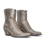 Bota Texana Feminina - Full Craquelé Bronze - Western - Bico Fino - Cano Curto - Solado Colorplac - Vimar Boots - 11177-A-VR