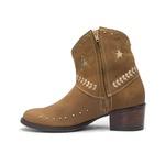 Bota Texana Feminina - Dallas Taupe / Taupe - Western - Bico Redondo - Cano Curto - Solado Colorplac - Vimar Boots - 11215-A-VR