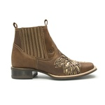 Botina Feminina 2 em 1 - Dallas Bambu - Roper - Bico Quadrado - Solado Nevada - Com Polaina Bambu - Vimar Boots - 12165-A-VR-PL003