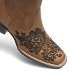 Botina Feminina - Dallas Bambu / Preto - Roper - Bico Quadrado - Solado Nevada - Vimar Boots - 12175-B-VR
