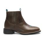 Botina Feminina - Atlanta Brown / Celeste- Roper - Bico Quadrado - Solado VTS - Vimar Boots - 12178-A-VR