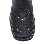 Botina Feminina - Fóssil Preto | Glitter Preto - Freedom Flex - Vimar Boots - 12182-A-VR