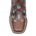 Bota Feminina - Texas Café / Azul Dourado - Nevada - Vimar Boots - 13044-A-VR