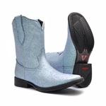 Bota Feminina - Full Glitter Azul Claro - Vimar Boots - 13083-B-VR