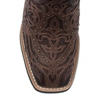 Bota Texana Feminina - Dallas Castor / Mustang Café - Roper - Bico Quadrado - Cano Longo - Solado VTS - Vimar Boots - 13103-B-VR