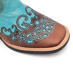 Bota Texana Feminina - Dallas Castor / Azul Dourado - Vimar Boots - 13106-B-VR