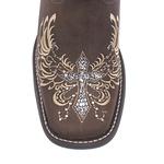 Bota Texana Feminina - Dallas Castor / Glitter Preto com Prata - Roper - Bico Quadrado - Cano Longo - Solado Freedom Flex - Vimar Boots - 13121-A-VR