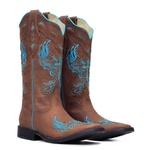 Bota Feminina - Dallas Castor  Azul Dourado - Freedom Flex - Vimar Boots - 13121-C-VR