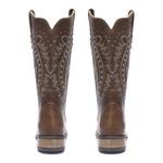 Bota Texana Feminina - Atlanta Café - Roper - Bico Quadrado - Cano Longo - Solado Nevada - Vimar Boots - 13126-A-VR