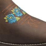 Bota Texana Feminina - Dallas Castor / Caramelo - Roper - Bico Quadrado - Cano Curto - Solado Nevada - Vimar Boots - 13127-A-VR