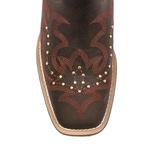 Bota Texana Feminina - Dallas Cator / Vermelho - Roper - Bico Quadrado - Cano Longo - Solado Nevada - Vimar Boots - 13133-A-VR