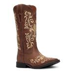 Bota Texana Feminina - Dallas Castor - Roper - Bico Quadrado - Cano Longo - Solado Freedom Flex - Vimar Boots - 13140-A-VR