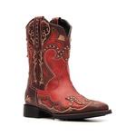 Bota Feminina - Dallas Bordô | Fóssil Caseinado Red - VTS - Vimar Boots - 13141-A-VR