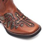Bota Feminina - Atlanta Café / Craquelé Bronze - Freedom Flex - Vimar Boots - 13145-A-VR