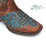 Bota Feminina - by Thaisa Ribeiro - Fóssil Caramelo / Dallas Azul Celeste - Vimar Boots - 13145-D-VR