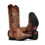 Bota Feminina - Dallas Bambu / Glitter Maxxi Ouro - Freedom Flex - Vimar Boots - 13146-A-VR