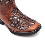 Bota Feminina - Atlanta Café / Glitter Maxxi Preto com Prata - Freedom Flex - Vimar Boots - 13146-B-VR