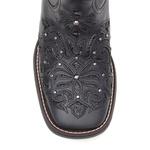 Bota Feminina - Fóssil Preto / Glitter Preto - Freedom Flex - Vimar Boots - 13146-C-VR