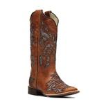 Bota Feminina - Fóssil Caseinado Caramelo / Glitter Maxxi Preto com Prata - Nevada - Vimar Boots - 13146-D-VR