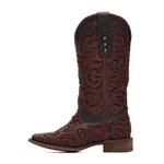Bota Feminina - Dallas Café / Glitter Maxxi Vinho - Vimar Boots - 13147-A-VR