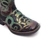 Bota Feminina - Fóssil Flex Azul Dourado | Glitter Preto - Freedom Flex - Vimar Boots - 13147-B-VR