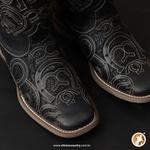 Bota Feminina - Fóssil Preto / Glitter Preto - Vimar Boots - 13147-E-VR