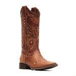 Bota Feminina - Fóssil Caseinado Caramelo - Nevada - Vimar Boots - 13148-B-VR