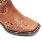 KIT CONSUMIDOR - Bota Feminina - Fóssil Caseinado Caramelo - Nevada - Vimar Boots - 13148-B-VR-KIT