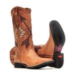 Bota Feminina - Fóssil Caseinado Caramelo   Caramelo   Café - Freedom Flex - Vimar Boots - 13149-B-VR