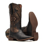 Bota Feminina - Fóssil Preto | Fóssil Flex Ouro Light | Preto - Nevada - Vimar Boots - 13149-C-VR