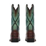 Bota Feminina - Jacaré Original Tabaco | Azul Dourado - Freedom Flex - Vimar Boots - 13149-E-VR