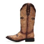 Bota Feminina - Kzar Taupe | Texas Café - Freedom Flex - Vimar Boots - 13151-B-VR