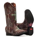 Bota Feminina - Dallas Castor | Azul Dourado - Freedom Flex - Vimar Boots - 13151-C-VR