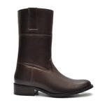 Bota Montaria Feminina - Np Comfort Café - Bico Redondo - Cano Médio - Solado Colorplac - Vimar Boots - 14003-A-VR