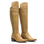 Bota Montaria Feminina - Np Comfort Caramelo - Bico Fino - Cano Over Knee - Solado Colorplac - Vimar Boots - 14057-A-VR