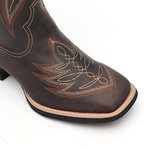 KIT CONSUMIDOR - Bota Feminina - Dallas Brown - VTS - Bulls Horse - 53014-A-BU-KIT