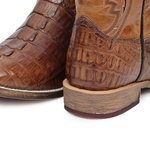Bota Masculina - Jacaré Original Tabaco (RABO) | Caramelo - TXS - Vimar Boots - 81292-D-VR